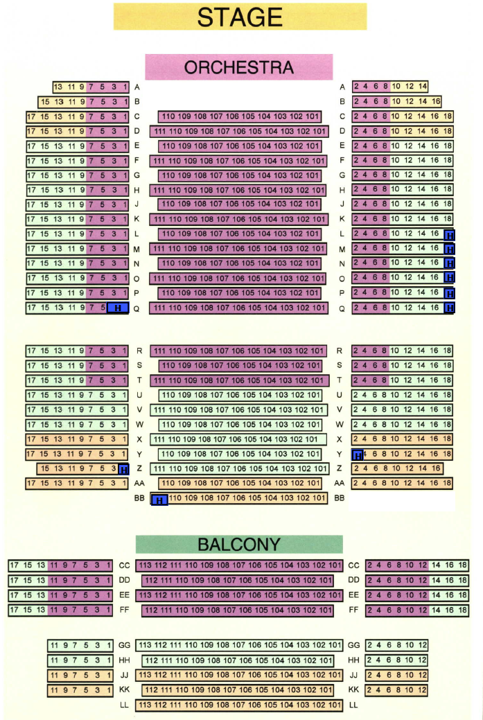 Carlisle Theatre Seating Chart